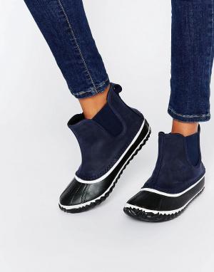 Sorel Темно-синие ботинки челси Out N About. Цвет: темно-синий