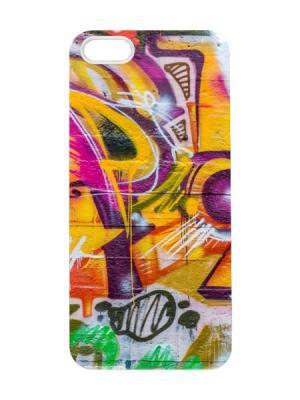 Чехол для iPhone 5/5s Граффити Арт. IP5-056 Chocopony. Цвет: фиолетовый, черный