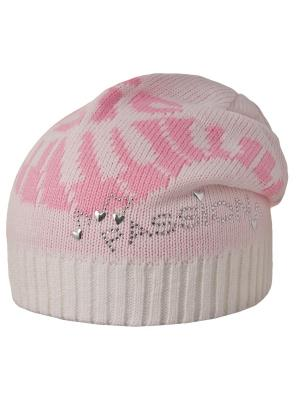 Шапка Achti. Цвет: бледно-розовый, белый, розовый