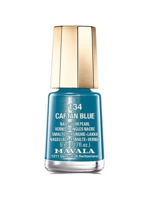 Лак для ногтей тон 134 Синий бархат Mavala. Цвет: синий