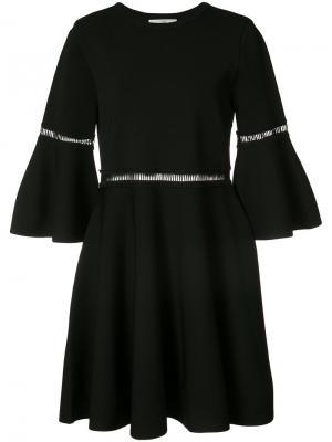 Trumpet sleeve mini dress Carven. Цвет: чёрный