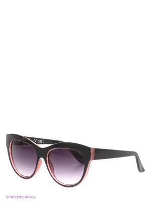 Солнцезащитные очки Oodji. Цвет: черный, розовый