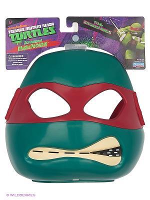 Маска Черепашки-ниндзя Рафаэль Playmates toys. Цвет: зеленый, красный