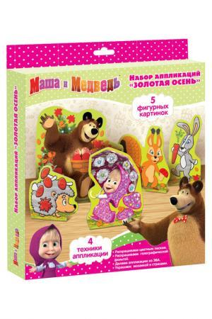 Набор аппликаций Маша и Медведь. Цвет: розовый