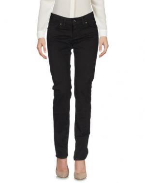 Повседневные брюки LIST. Цвет: темно-коричневый