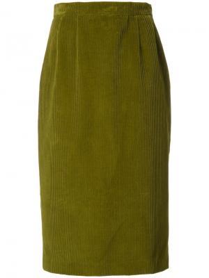 Юбка Corduroy Olympia Le-Tan. Цвет: зелёный