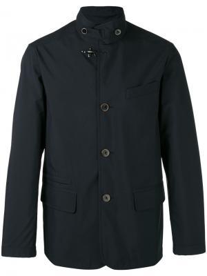 Куртка на пуговицах с высокой горловиной Fay. Цвет: синий