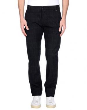 Повседневные брюки GREY DANIELE ALESSANDRINI. Цвет: стальной серый