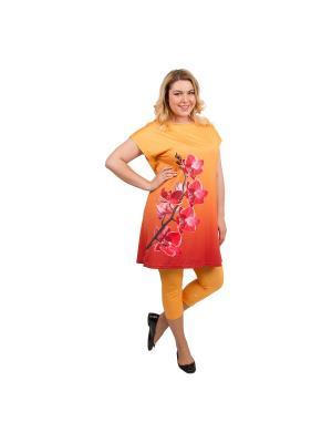 Костюм женский, дизайн Орхидея Dorothy's Нome. Цвет: оранжевый