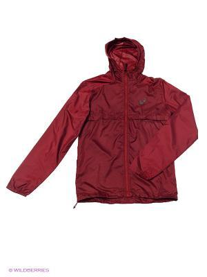 Куртка fuzeX PACKABLE JACKET ASICS. Цвет: бордовый, красный