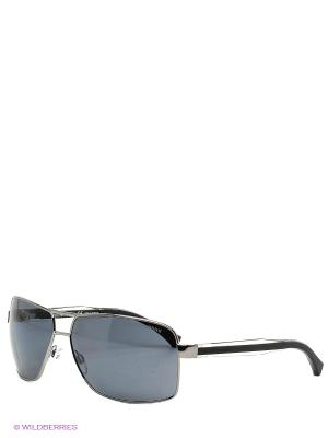 Очки солнцезащитные Emporio Armani. Цвет: антрацитовый, серебристый