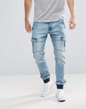 Voi Jeans Джинсы карго. Цвет: синий