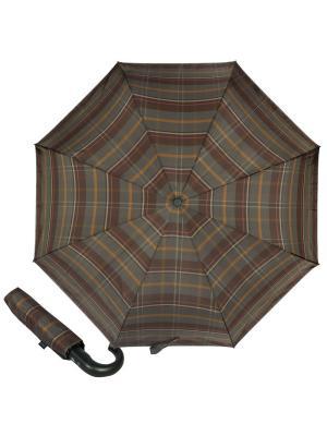 Зонт складной M&P C2796-OC Cletic Blue/Green. Цвет: темно-коричневый, бронзовый, темно-серый