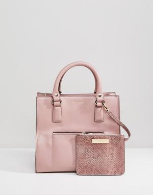 Carvela Сумка-тоут с карманом и кошельком Simba. Цвет: розовый