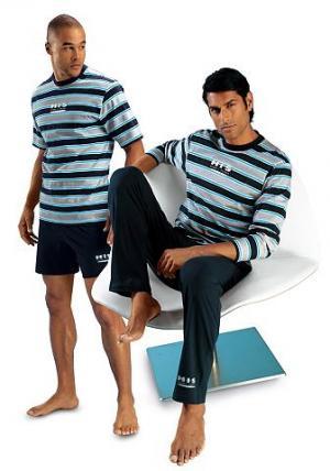 Пижама,  (2 шт.) H.I.S. Цвет: 2x синий морской с серым