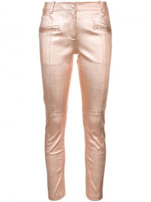 Облегающие брюки Sies Marjan. Цвет: розовый и фиолетовый