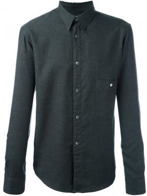 Классическая рубашка на пуговицах Lemaire. Цвет: серый