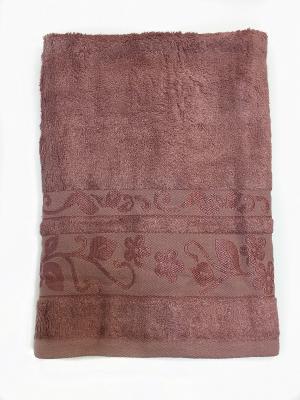Полотенце A and C Collection. Цвет: светло-коричневый, розовый