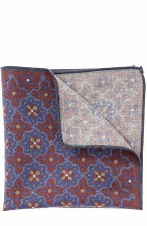 Шерстяной платок с узором Ermenegildo Zegna. Цвет: бордовый