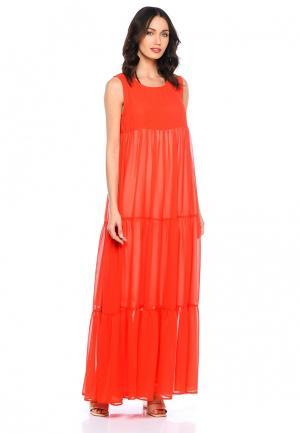 Платье Lucky Move. Цвет: оранжевый