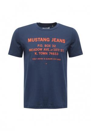 Футболка Mustang. Цвет: синий