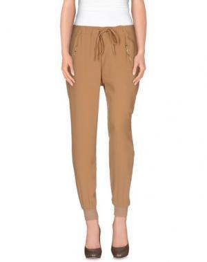 Повседневные брюки DEBY DEBO. Цвет: коричневый
