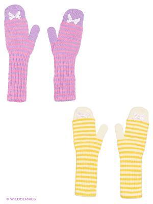 Варежки FOMAS. Цвет: сиреневый, желтый, молочный, фуксия