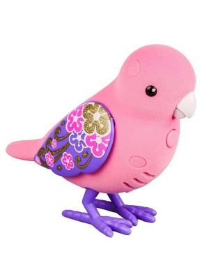 Интерактивная птичка Little Live Pets Розовая с фиолетовыми крыльями Moose. Цвет: розовый
