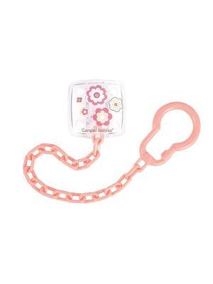 Клипса-держатель для пустышек - Neorn baby Canpol babies. Цвет: розовый