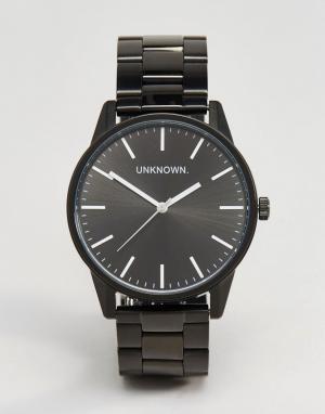 UNKNOWN Классические черные часы-браслет 39 мм. Цвет: черный