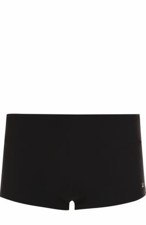 Однотонные плавки BOSS. Цвет: черный