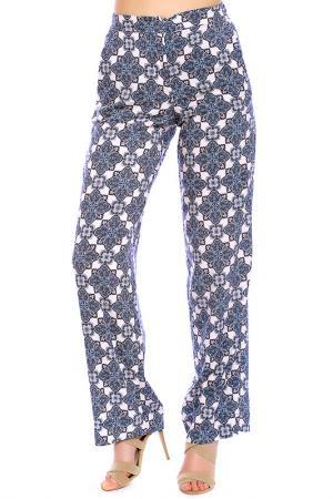 Trousers Emma Monti. Цвет: blue, cream