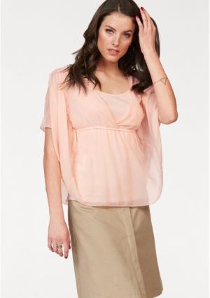 Блузка VIVANCE. Цвет: абрикосовый
