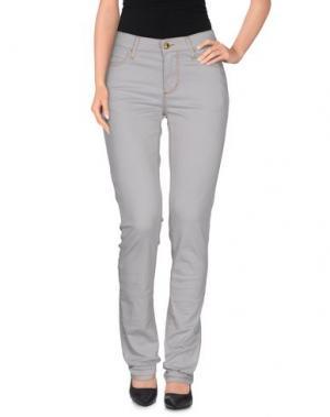 Повседневные брюки MONKEE GENES. Цвет: серый