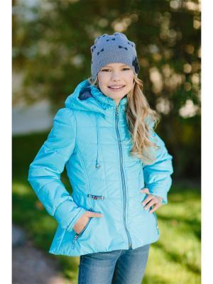 Куртка Алина DUWALI. Цвет: голубой