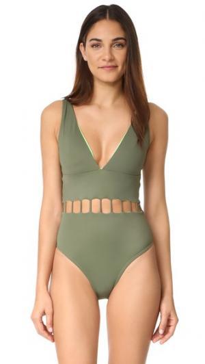 Сплошной купальник  Jade Peixoto. Цвет: хвойно-зеленый
