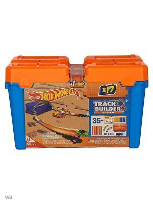 Стартовый набор конструктора трасс Hot Wheels. Цвет: синий, оранжевый