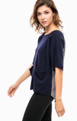 Джемпер из вискозы с карманами Kocca. Цвет: синий
