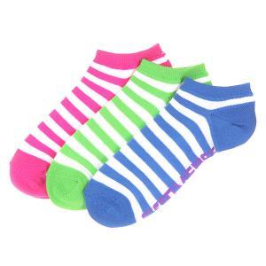 Носки низкие женские  3pp Wednesday Stripe No Show White/Blue/Green/Purple Converse. Цвет: зеленый,синий,фиолетовый,белый