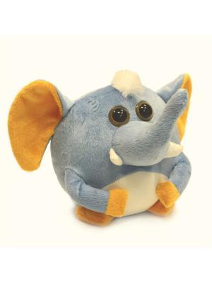 Мягкая игрушка шарик Слоник, Malvina. Цвет: голубой