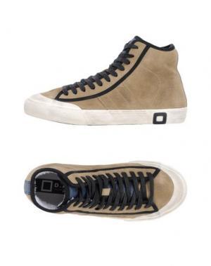 Высокие кеды и кроссовки D.A.T.E.. Цвет: песочный