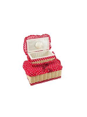 Набор шкатулок для рукоделия из 2-х шт. Русские подарки. Цвет: красный
