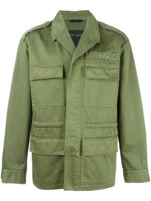 Куртка в стиле милитари Marc Jacobs. Цвет: зелёный