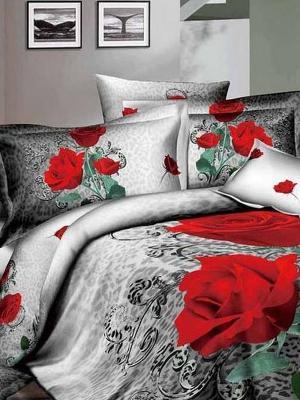 Комплект постельного белья, Dela Rose, Семейный KAZANOV.A.. Цвет: серый
