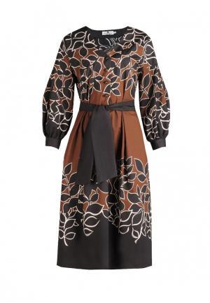 Платье Bergamoda. Цвет: разноцветный