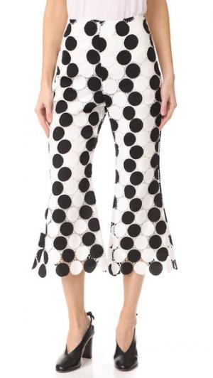 Расклешенные брюки-капри PAPER London. Цвет: голубой