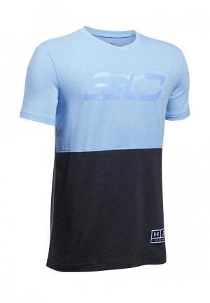 Футболка спортивная Under Armour. Цвет: голубой