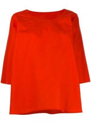 Flared blouse Daniela Gregis. Цвет: красный