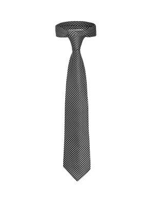 Классический галстук Жизнь на Уолл стрит со стильным принтом Signature A.P.. Цвет: черный, белый