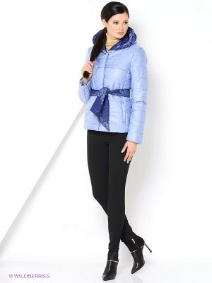 Куртка Анна Чапман. Цвет: голубой
